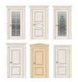 set of classic doors vector image vector image