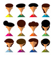 Set of people icons in flat style character vector image vector image