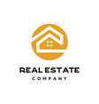 simple home real estate logo vector image