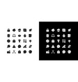 smartphone glyph icons set for night and day mode vector image