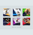 sport social media post design template vector image vector image