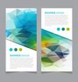 stock set of polygonal triangular banners vector image