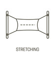 stretching or advertising banner isolated line vector image