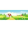 Summer village banner vector image vector image