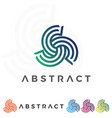 swirl abstract icon concept flat design vector image vector image
