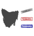 tasmania island map in halftone dot style with vector image vector image