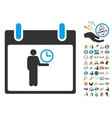 Time Manager Calendar Day Flat Icon With vector image