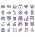 United state independence day icon set omission