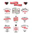 Valentines day lettering cards Labels and logo vector image vector image