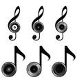 violin key set music sound vector image