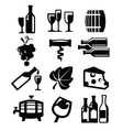 wine icon vector image vector image