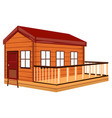 wooden cottage with terrace vector image vector image