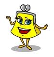 Yellow cartoon purse vector image vector image