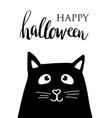 happy halloween lettering card vector image