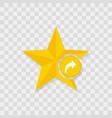 star icon arrow forward icon vector image