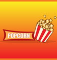 popcorn design card vector image