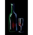 wine on black vector image