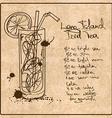 Hand drawn Long Island Iced Tea cocktail vector image