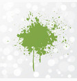 abstract grunge splash of greenery - color of the vector image vector image