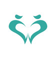 abstract heart logo design template love and care vector image