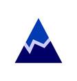 abstract mountain design icon concept logo vector image vector image