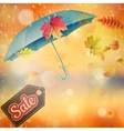 Autumn sales template EPS 10 vector image