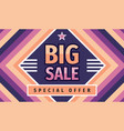 big sale concept horizontal banner design vector image vector image