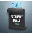 Big Sale Paper Ribbon Banner on Wireframe vector image vector image