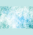 blue green watercolor grunge brush stroke vector image vector image
