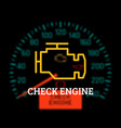 check engine light on dashboard background vector image