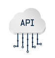 cloud api 3d sign technology vector image vector image
