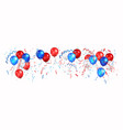color holiday balloons vector image vector image