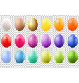 colorful eggs set vector image vector image