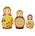 Colorful matryoshka dolls