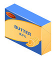 commercial butter icon realistic style vector image