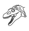 concavenator icon doodle hand drawn or black vector image vector image