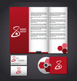 corporate identity mock up vector image