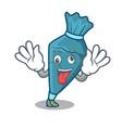 crazy pastrybag mascot cartoon style vector image vector image