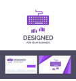 creative business card and logo template keyboard vector image vector image