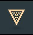 creative gold trinity futuristic triple triangle vector image vector image