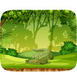 crocodile on note template vector image vector image