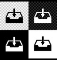 download inbox icon isolated on black white and vector image vector image