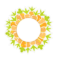 Easter orange carrots pattern on a white vector image