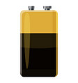 electric battery icon cartoon style vector image