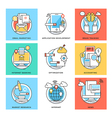 Flat Color Line Design Concepts Icons 6 vector image