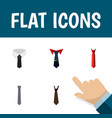 flat icon tie set of textile tie style and other vector image vector image