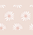 floral seamless pattern with daisy blossom flowers vector image vector image
