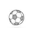 football ball and shadow vector image vector image