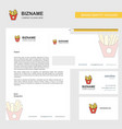 fries business letterhead envelope and visiting vector image vector image
