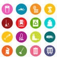 garbage thing icons many colors set vector image vector image